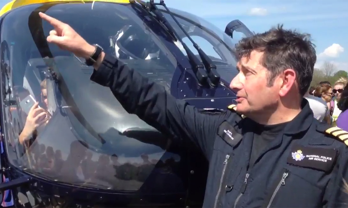 Bristol high-flying kite enthusiast gets police helicopter warning Credit: Twitter/NPAS_Filton