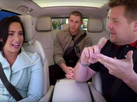 WATCH: Nick Jonas and Demi Lovato just broke the cardinal rule of Carpool Karaoke