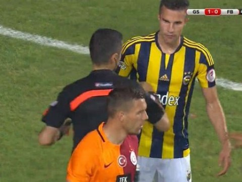 Lukas Podolski enhances Arsenal cult hero status by squaring up to former team-mate Robin van Persie