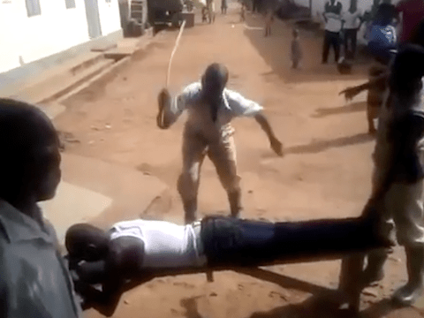 Man flogged in public for 'having sex with married woman'