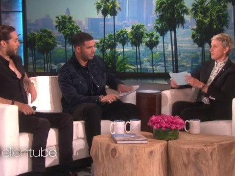 WATCH: Drake and Jared Leto play Never Have I Ever on Ellen and it's hilarious