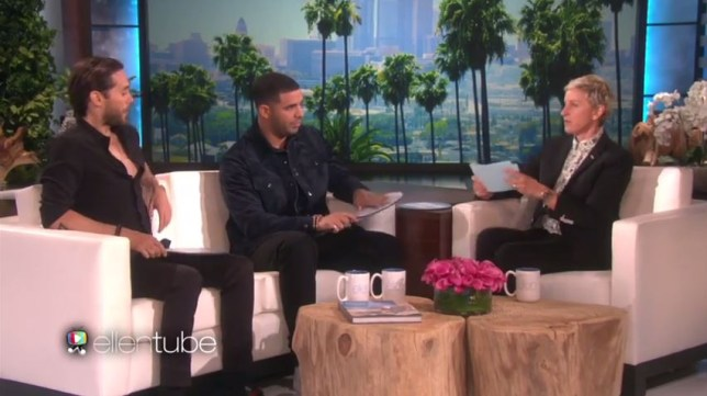 Drake and Jared Leto appeared on the Ellen Show (Picture: The Ellen Show)