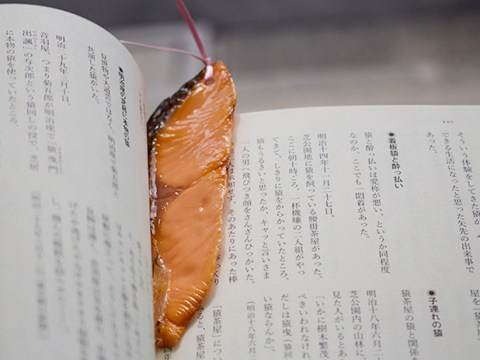 We're not sure how to feel about these fake food bookmarks