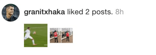 Granit Xhaka liked a suspicious post on Instagram