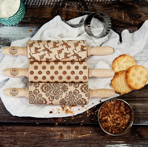 Engraved rolling pins will make your desserts look whimsical