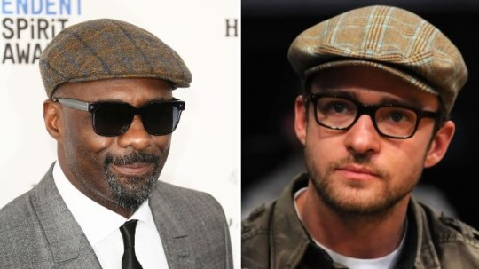 cb74bbd077077 Idris Elba and Justin Timberlake love a flat cap (Picture  Getty)
