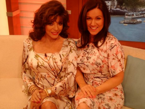 Susanna Reid and Joan Collins wore 'basically the same dress' on Good Morning Britain