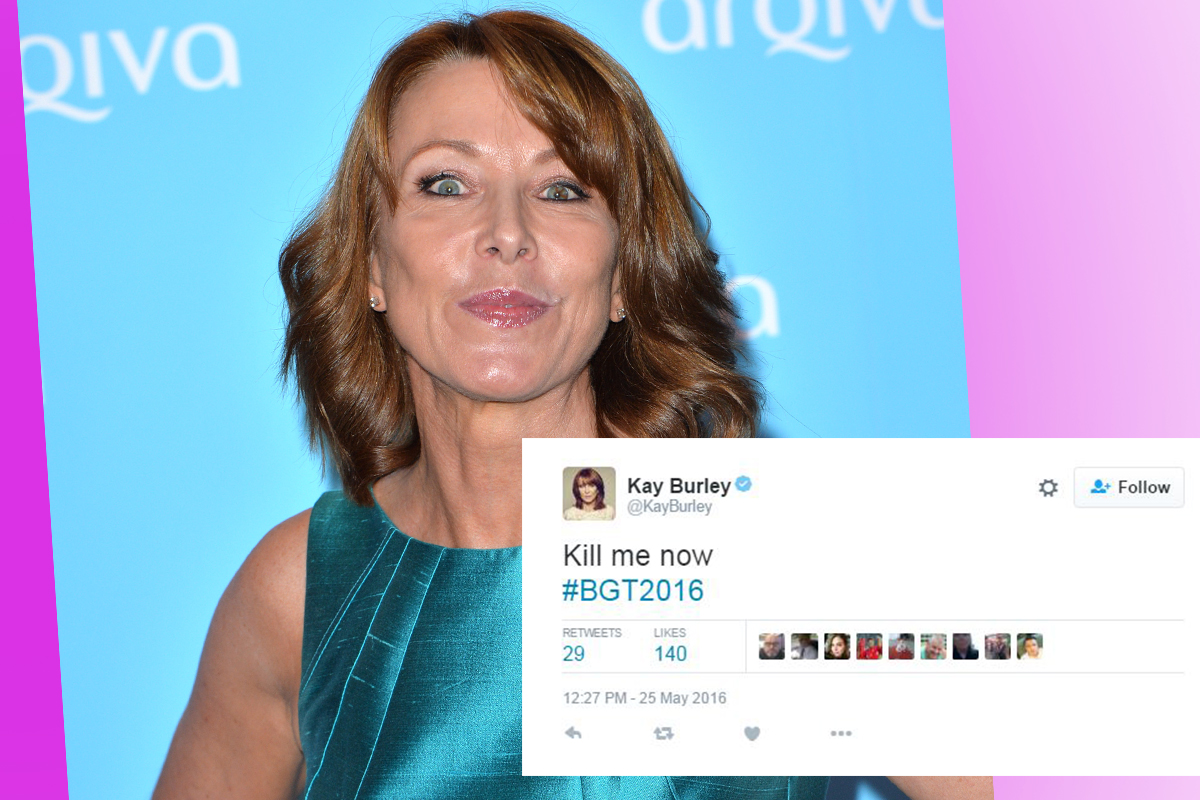 Kay Burley posts 'kill me now' during Britain's Got Talent and the internet reacts unkindly