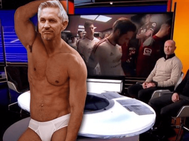Is this how Leicester fan Gary Lineker will look when presenting Match of the Day in his underpants?