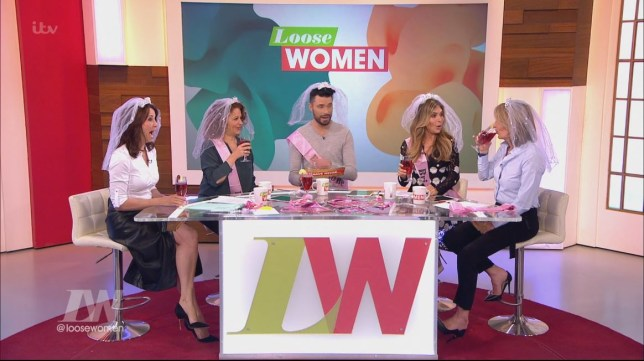 The Loose Women panel had a hen do on the show with Rylan Clark (Picture: ITV)