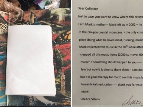 Man finds most heartbreaking letter hidden in second-hand bought record