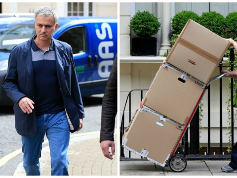Boxes removed from London home of Jose Mourinho as he prepares to take over from Louis van Gaal at Manchester United