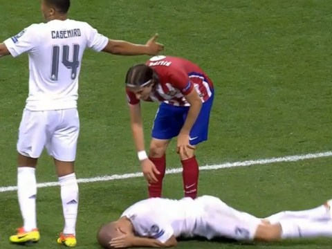 Real Madrid defender Pepe humiliates himself with most disgraceful dive of all-time versus Atletico Madrid