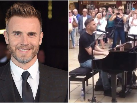 WATCH: Gary Barlow just surprised shoppers in Bristol with an impromptu gig