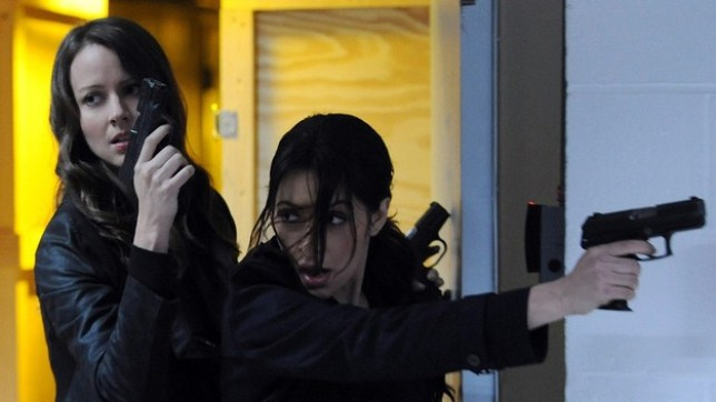 Sarah Shahi plays Nancy Drew in the reboot. Pictured her with Amy Acker in Person Of INterest (Picture:)