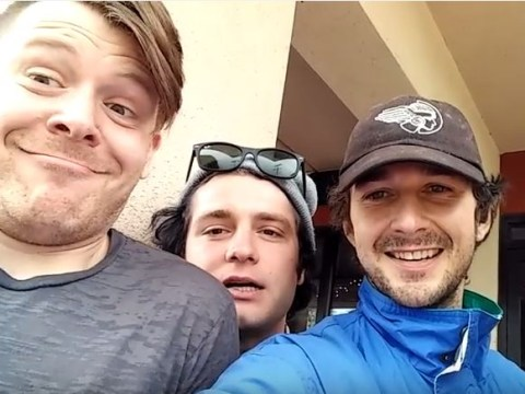 These guys managed to track down Shia LaBeouf using his GPS coordinates and he took them to lunch