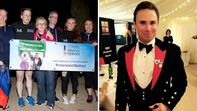 Family of man who died doing London Marathon complete the route for him