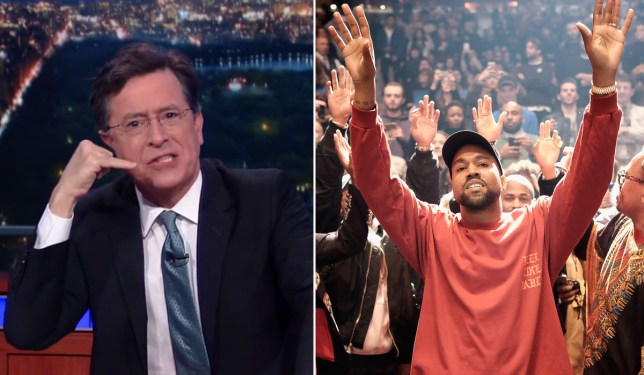 Stephen Colbert parodies Kanye West's 7 minute Ellen speech and it's hilarious Credit: The Late Show with Stephen Colbert/ Getty