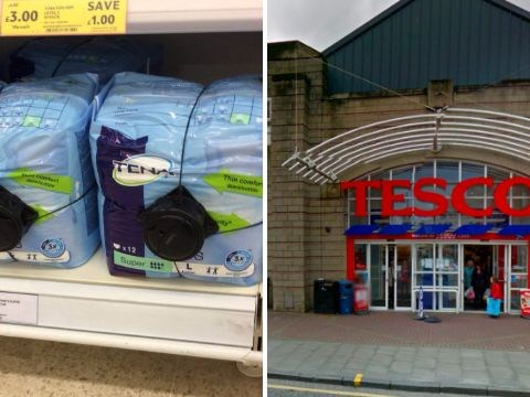 Tesco forced to fit incontinence pads with heavy duty theft alarms
