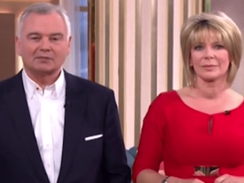 Ruth Langsford jokes she'd cut up husband Eamonn Holmes' suits if they were to divorce