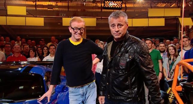 Chris Evans is on hosting duties with Matt LeBlanc (Picture: BBC)