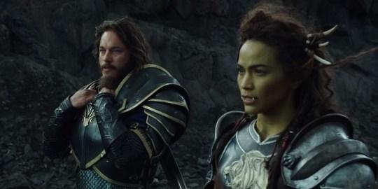 Anduin Lothar (Travis Fimmel) and Gamora Halforcen (Paula Patton) in Warcraft: The Beginning (Picture: 20th Century Fox)