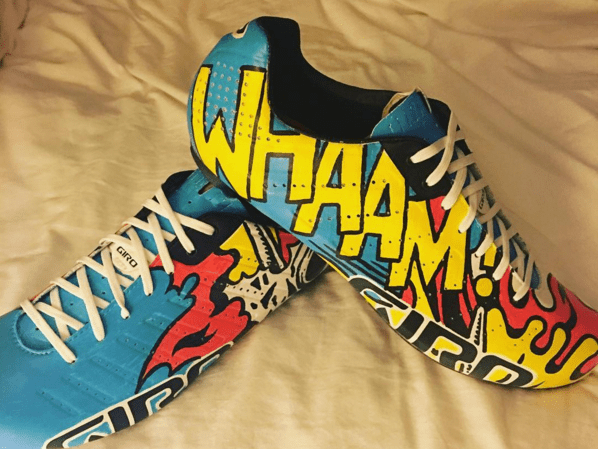 Sir Bradley Wiggins shows off new cycling shoes inspired by The Jam's Paul Weller