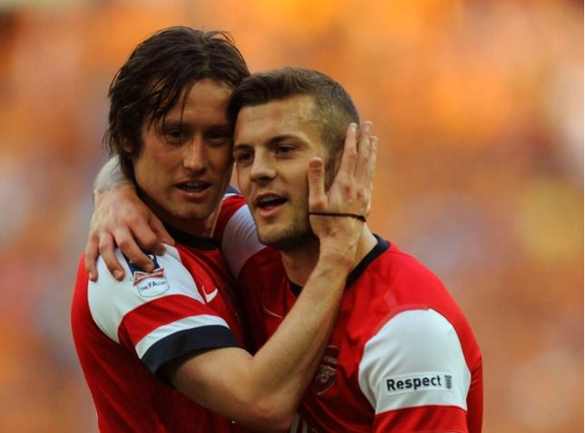 Jack Wilshere pens emotional farewell message to departing Arsenal team-mate Tomas Rosicky