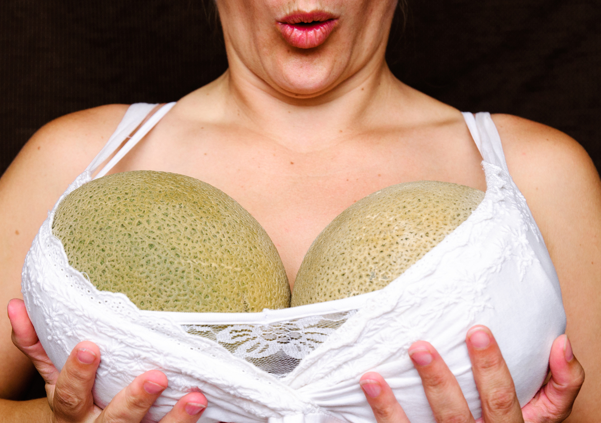 Big boobs: A gift and a curse (Picture: Getty)