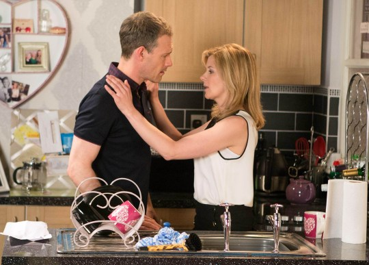FROM ITV STRICT EMBARGO - No Use Before Tuesday 21 June 2016 Coronation Street - Ep 8932 Monday 27 June 2016 - 2nd Ep Nick Tilsley [BEN PRICE] calls at Leanne Tilsley's [JANE DANSON] flat and apologises for his earlier behaviour. He admits to Leanne that he still has feelings for her and tries to kiss her.  Leanne resists and Nick heads home mortified.   Picture contact: david.crook@itv.com on 0161 952 6214 Photographer - Mark Bruce This photograph is (C) ITV Plc and can only be reproduced for editorial purposes directly in connection with the programme or event mentioned above, or ITV plc. Once made available by ITV plc Picture Desk, this photograph can be reproduced once only up until the transmission [TX] date and no reproduction fee will be charged. Any subsequent usage may incur a fee. This photograph must not be manipulated [excluding basic cropping] in a manner which alters the visual appearance of the person photographed deemed detrimental or inappropriate by ITV plc Picture Desk. This photograph must not be syndicated to any other company, publication or website, or permanently archived, without the express written permission of ITV Plc Picture Desk. Full Terms and conditions are available on the website www.itvpictures.com