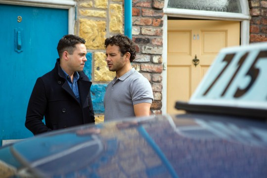 FROM ITV STRICT EMBARGO - No Use Before Tuesday 21 June 2016 Coronation Street - Ep 8933 Wednesday 29 June 2016 Eileen Grimshaw [SUE CLEAVER], Todd Grimshaw [BRUNO LANGLEY] and Sean Tully [ANTONY COTTON] bid Jason Grimshaw [RYAN THOMAS] an emotional farewell. Phelan [CONNOR McINTYRE] gives a smile of satisfaction as Jason's taxi pulls away. Picture contact: david.crook@itv.com on 0161 952 6214 Photographer - Mark Bruce This photograph is (C) ITV Plc and can only be reproduced for editorial purposes directly in connection with the programme or event mentioned above, or ITV plc. Once made available by ITV plc Picture Desk, this photograph can be reproduced once only up until the transmission [TX] date and no reproduction fee will be charged. Any subsequent usage may incur a fee. This photograph must not be manipulated [excluding basic cropping] in a manner which alters the visual appearance of the person photographed deemed detrimental or inappropriate by ITV plc Picture Desk. This photograph must not be syndicated to any other company, publication or website, or permanently archived, without the express written permission of ITV Plc Picture Desk. Full Terms and conditions are available on the website www.itvpictures.com