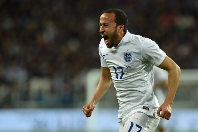 TURIN, ITALY - MARCH 31: Andros Townsend of England celebrates a goal during the international friendly match between Italy and England at the Juventus Arena on March 31, 2015 in Turin, Italy. (Photo by Valerio Pennicino/Getty Images)