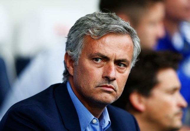 WEST BROMWICH, ENGLAND - AUGUST 23: Jose Mourinho, manager of Chelsea looks on during the Barclays Premier League match between West Bromwich Albion and Chelsea at The Hawthorns on August 23, 2015 in West Bromwich, England. (Photo by Julian Finney/Getty Images)