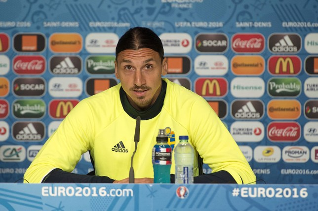 Ibrahimovic was in confident mood ahead of starting for Sweden at Euro 2016 (Picture: Getty)