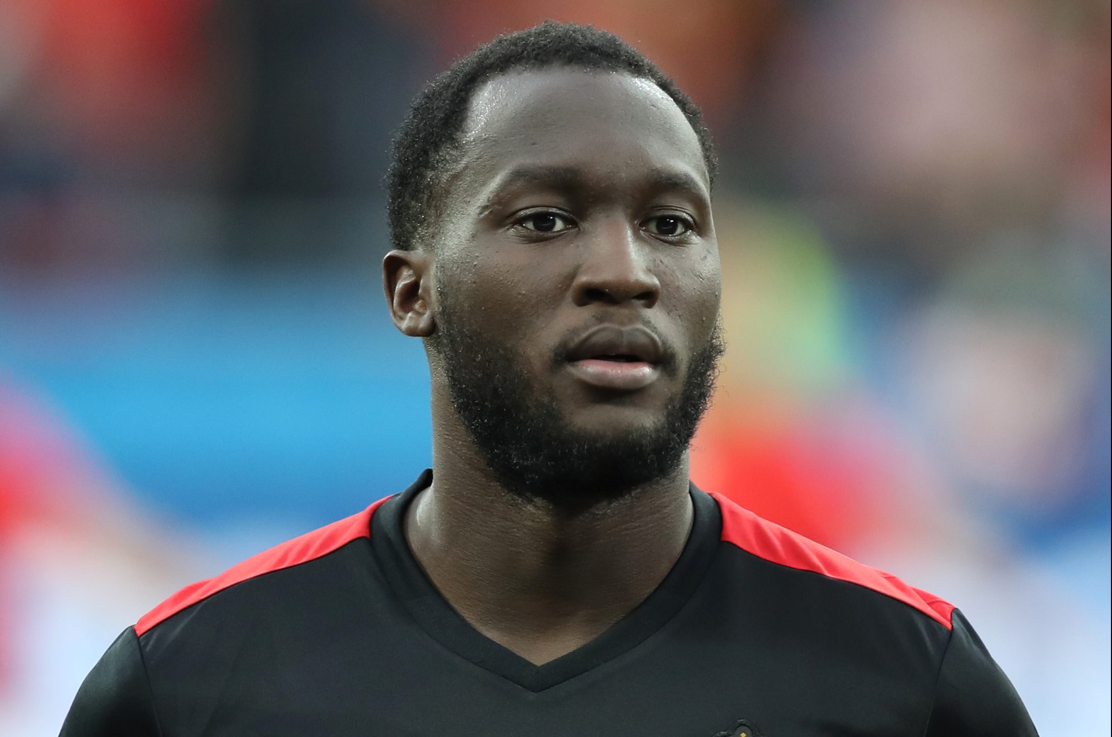 LYON, FRANCE - JUNE 13: Romelu Lukaku of Belgium looks on during the UEFA EURO 2016 Group E match between Belgium and Italy at Stade des Lumieres on June 13, 2016 in Lyon, France. (Photo by Ian MacNicol/Getty Images)
