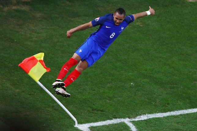 MARSEILLE, FRANCE - JUNE 15: Dimitri Payet of France celebrates after he scored his sides second goal during the UEFA EURO 2016 Group A match between France and Albania at Stade Velodrome on June 15, 2016 in Marseille, France. (Photo by Lars Baron/Getty Images)