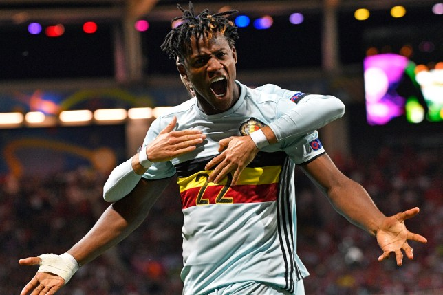 TOULOUSE, FRANCE - JUNE 26 : Michy Batshuayi forward of Belgium celebrates scoring a goal during the UEFA EURO 2016 Round of 16 match between Hungary and Belgium at the Stadium Toulouse on June 26, 2016 in Toulouse, France , 26/06/2016 ( Photo by Peter De Voecht / Photonews via Getty Images)