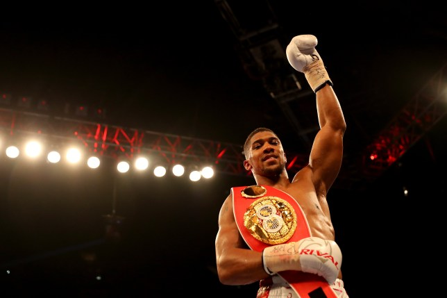 LONDON, ENGLAND - JUNE 25: Anthony Joshua of Great Britain celebrates after defeating Dominic Breazeale of The USA during their IBF World Heavyweight Championship bout at The O2 Arena on June 25, 2016 in London, England. (Photo by Richard Heathcote/Getty Images)