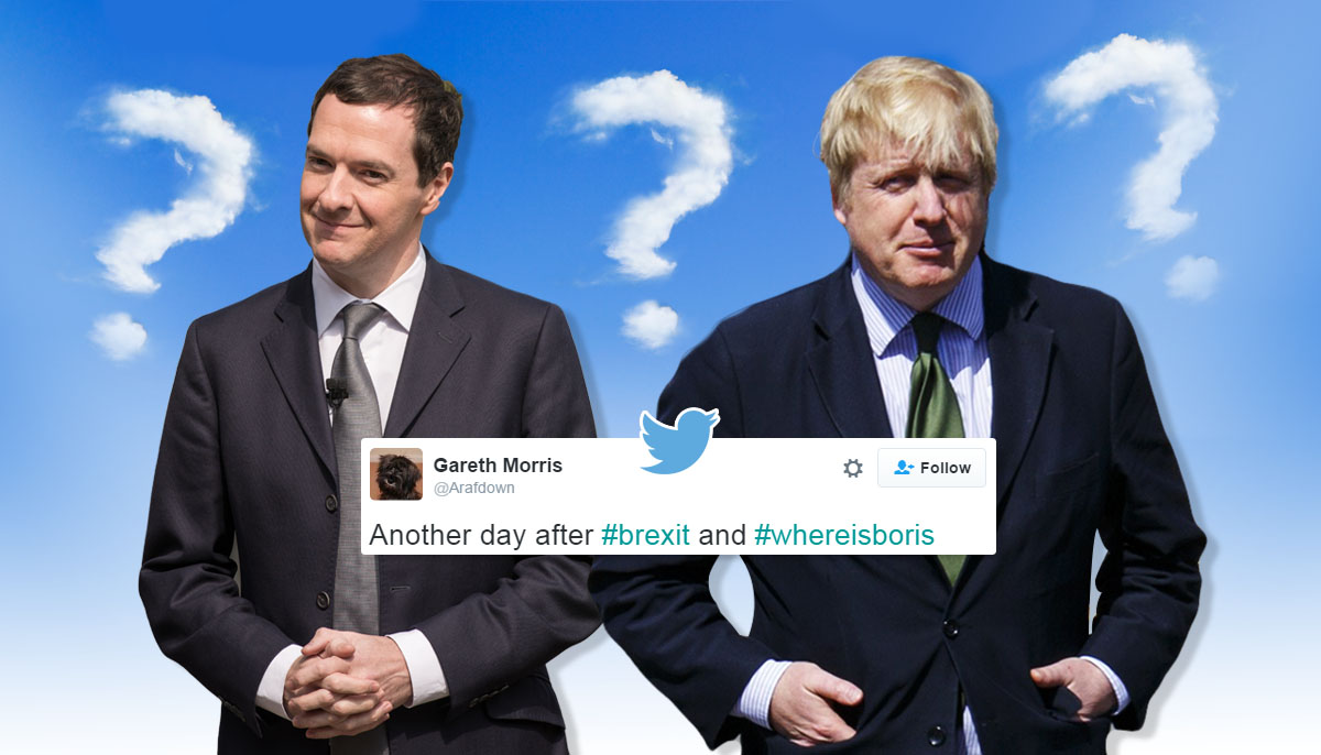 Where are George and Boris? Credit: Getty Images/Metro