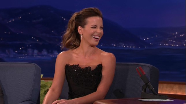 Kate Beckinsale used to date Michael Sheen (Picture: TBS/WENN)