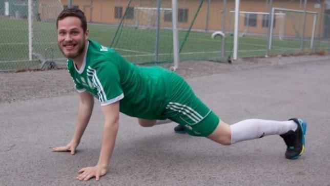 Farting footballer