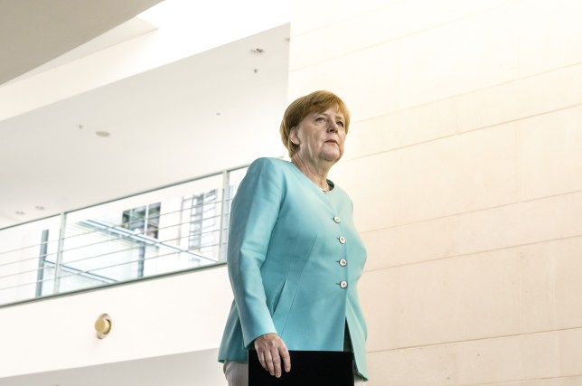 Mandatory Credit: Photo by Action Press/REX/Shutterstock (5736595f) Angela Merkel Angela Merkel makes a statement on the result of the EU referendum in The UK, Berlin, Germany - 24 Jun 2016