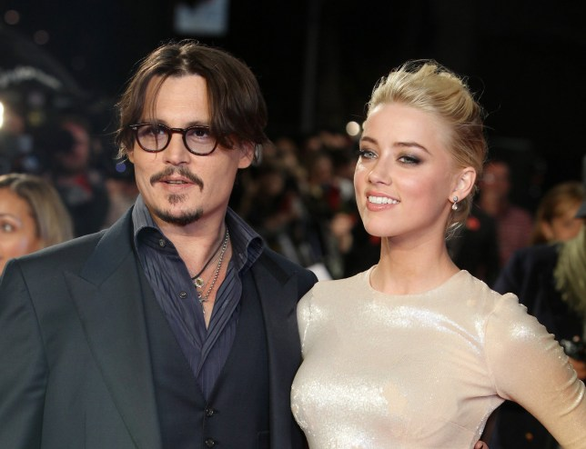 """Johnny Depps texts to Amber Heard exposed as 'fake'. FILE - In this Nov. 3, 2011 file photo, U.S. actors Johnny Depp, left, and Amber Heard arrive for the European premiere of their film, """"The Rum Diary,"""" in London. Attorneys for Heard, said Tuesday, May 31, 2016, that the model-actress has given a statement to Los Angeles police to support her account that Depp was physically abusive to her during a fight on May 21, 2016, in their Los Angeles home. Heard filed for divorce Monday, May 23, 2016, citing irreconcilable differences. (AP Photo/Joel Ryan, File)"""