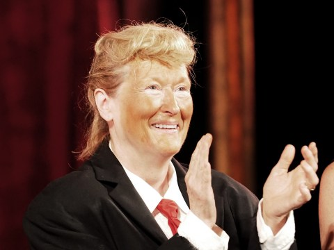 Meryl Streep's Donald Trump impression obviously features a lot of fake tan