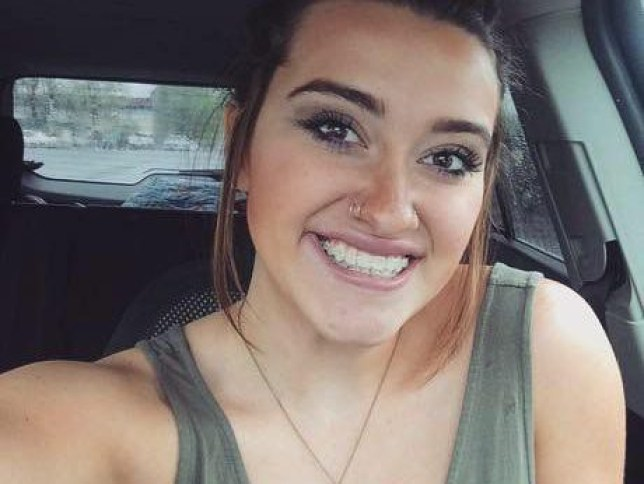 Kaitlyn Juvik....Kaitlyn Juvik, a senior at Helena High School in Montana, went to school in May without a bra underneath her black, off-the-shoulder tee, though she was wearing nipple stickers to prevent them from showing through the material of her t-shirt.