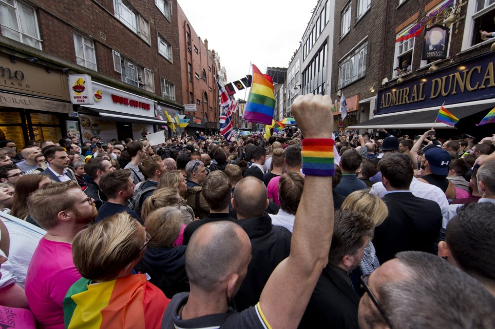 A gunman killed 49 people and wounded 53 more in an attack at the Pulse nightclub in Orlando. Featuring: Atmosphere Where: London, United Kingdom When: 13 Jun 2016 Credit: Seb/WENN.com