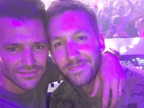 Calvin Harris moves on from Taylor Swift by partying hard in Las Vegas with Mark Wright