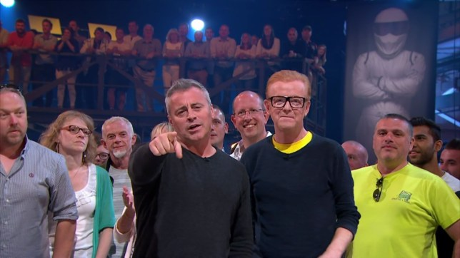 Matt LeBlanc and Chris Evans presenting the fourth edition of the revamped 'Top Gear'. Broadcast on BBC2 HD. Featuring: Matt LeBlanc, Chris Evans Where: United Kingdom When: 19 Jun 2016 Credit: Supplied by WENN **WENN does not claim any ownership including but not limited to Copyright, License in attached material. Fees charged by WENN are for WENN's services only, do not, nor are they intended to, convey to the user any ownership of Copyright, License in material. By publishing this material you expressly agree to indemnify, to hold WENN, its directors, shareholders, employees harmless from any loss, claims, damages, demands, expenses (including legal fees), any causes of action, allegation against WENN arising out of, connected in any way with publication of the material.**