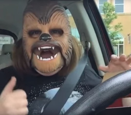 Chewbacca Mum is back CREDIT YOUTUBE