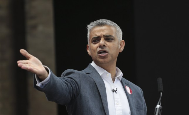 Vote Remain campaigner and new London Mayor Sadiq Khan gives a final press conference before the crucial Referendum vote to decide whether the UK will remain a member of the European Union or become an Independent country in King's Cross, London June 22, 2016. PHOTOGRAPH BY UPI / Barcroft Images London-T:+44 207 033 1031 E:hello@barcroftmedia.com - New York-T:+1 212 796 2458 E:hello@barcroftusa.com - New Delhi-T:+91 11 4053 2429 E:hello@barcroftindia.com www.barcroftimages.com